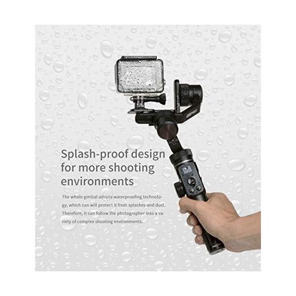 FeiyuTech G6MAX - Stabilizzatore universale portatile integrale a 3 assi per telefoni cellulari, Sony RX100 / A6300 / A6400 / A6500, videocamera DSLM Mirrorless e videocamera d'azione Gopro, Sony RX0 5 spesavip