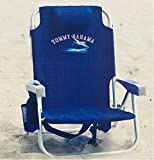 2 Tommy Bahama Backpack Cooler Chair with Storage Pouch and...