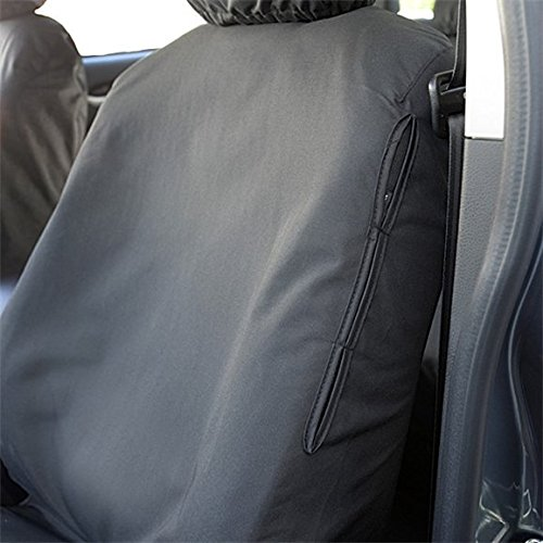 Black UK Custom Covers SC129B Tailored Heavy Duty Waterproof Front Seat Covers