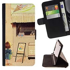 King Case - FOR Samsung Galaxy S3 III I9300 - actually everyone has a scar - Prima caja de la PU billetera de cuero con ranuras para tarjetas, efectivo Compartimiento desmontable y correa para la mu?eca