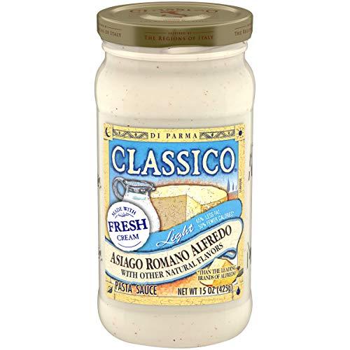 Classico Pasta Sauce Asiago Romano Alfredo (15 oz Jar)