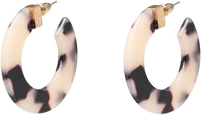 Fabric Earrings Floral Print Fashion Earrings Oval Shape Large Earrings Hoop Earrings