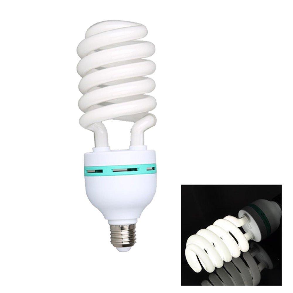 Abeststudio 2X 135W E27 Photo Bulbs 5500K Fluorescent Spiral Light Bulb for Photo and Video Studio Lighting Studio Bulb