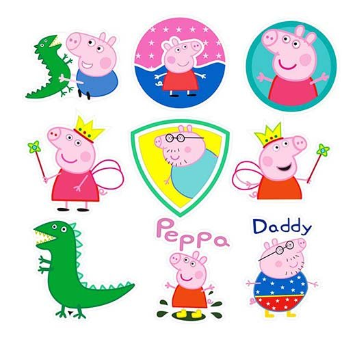 Peppa The Pig 38 Pcs Sticker Cute Decals Vinyls for Laptop Luggage Notebook Cute