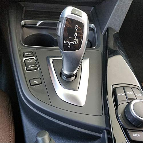 Panel HERBEN Real Carbon Fiber Gear Shift Control Panel Decorative Cover Trim for BMW F20 F30 F31 F34 X5 F15 X6 F16 X3 F25 X4 F26 F10