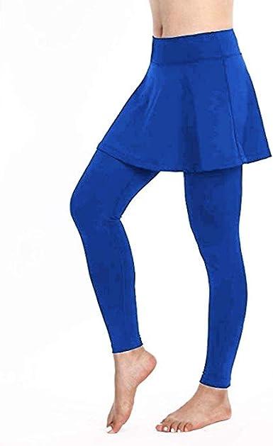VPASS Mujer Pantalones Falda, Elásticos Mallas Pantalones de ...