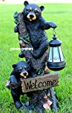 BEAR CUBS WITH SOLAR LIGHT STATUE SOLAR BEAR LANTERN FIGURINE Review