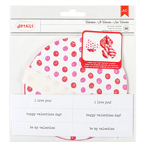 ntine's Fortune Cookies Kit 12 Piece (Valentine Fortune Cookies)