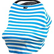 Baby Car Seat Cover£¬Nursing Breastfeeding Cover Scarf,Shopping Cart, Stroller, Carseat Covers for Girls and Boys,Blue