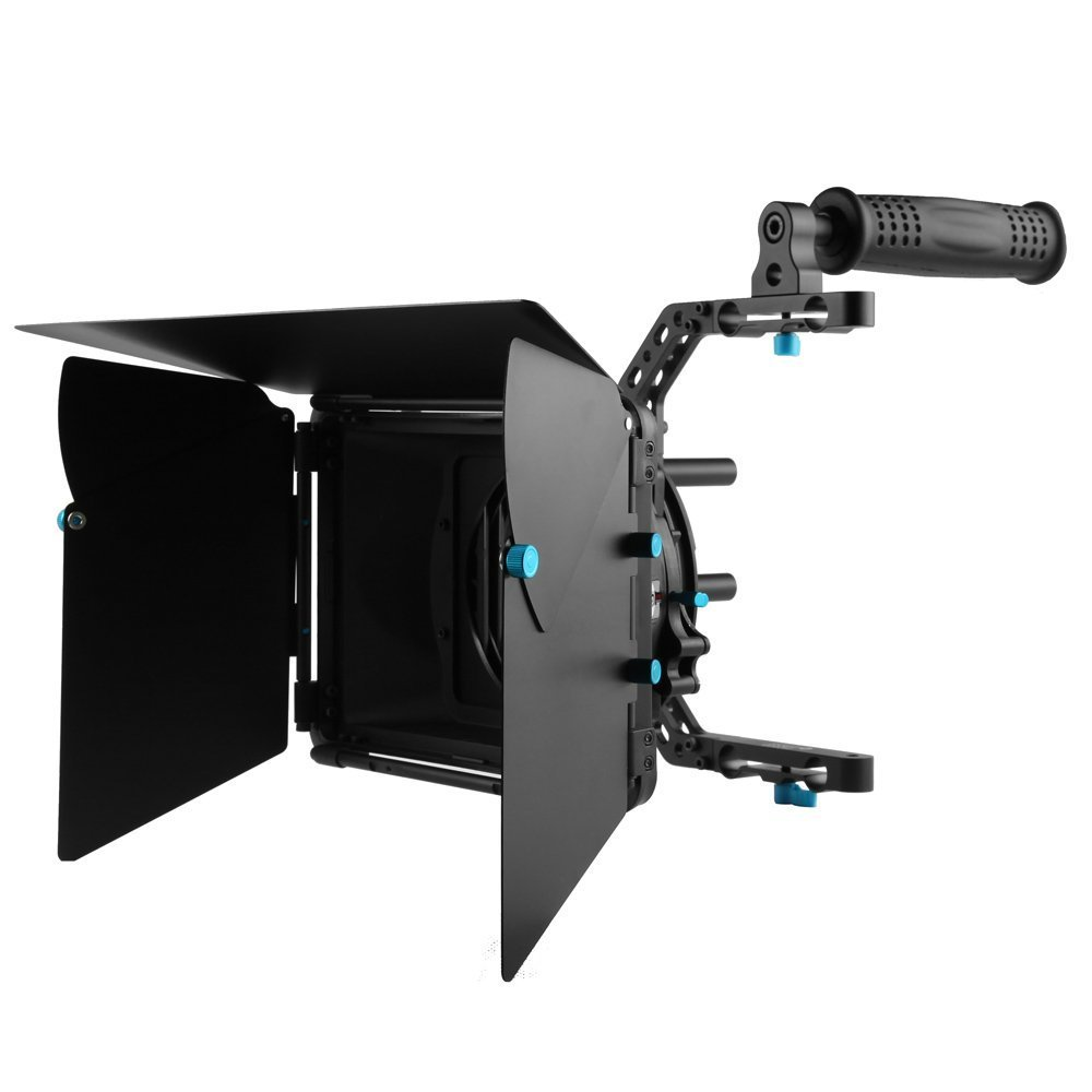 FOTGA DP3000 M4 DSLR Swing Away Matte Box Kits with top Handle for All Camera Rigs with 15mm Rod Systems by FOTGA