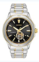 Citizen Men's 'Signature' Mechanical Hand Wind Stainless Steel Dress Watch, Color:Two Tone (Model: NB4014-56E)