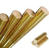 16mm(0.63'') Dia. 250mm(9.84'') Long H62 Brass Bar Round Rod Cylinder