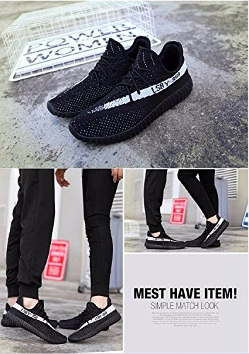 Kamma Mens Womens Fashion Turnschuhe Ligthweight & Breathable Laufschuhe Walking für Paar Casual Athletic Sport Gym Trainer Schwarz