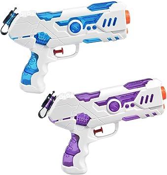 aovowog 2 Pack Pistola de Agua Super Soaker para Niños y Adultos ...