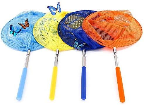 ZARRS Redes Telescópicas,4 Pack Butterfly Net Extensible Redes de Pesca con la Manija Estirable para Atrapar Insectos Mariposa Insectos Peces Pequeños: Amazon.es: Hogar