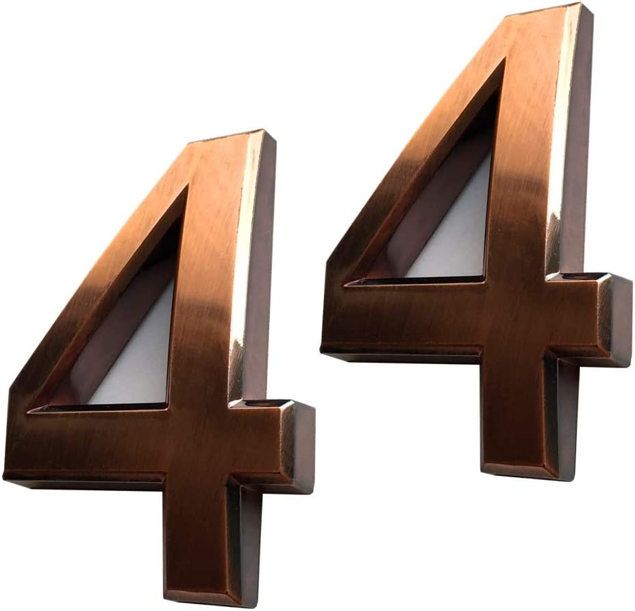 2-3//4 inch High 2.75 Double 3, Silver Silver Shining by Hopewan. 2 Pack Mailbox Numbers 3 Door Address Number Stickers for House//Apartment//Office Room
