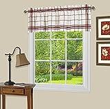 Achim Home Furnishings BAVL14BU12 Bainbridge Window Curtain VALANCE, 58″ X 14″, Burgundy For Sale