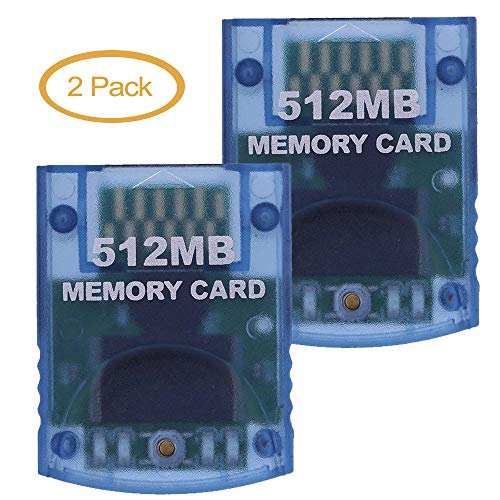 Memory Card 512MB(8192 Blocks) 2 Pack for Nintendo Wii Game Cube NGC Gc