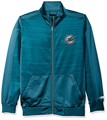 Miami Dolphins Mens Jackets (NFL Miami Dolphins Men's Progression Full Zip Track Jacket, XX-Large, Aqua)