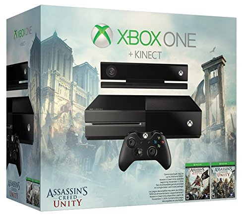 Xbox One With Kinect  Assassins Creed Unity Bundle  500Gb Hard Drive