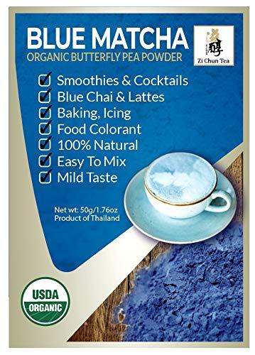 Organic Butterfly Pea Flower Powder from Thailand - Blue Matcha - Butterfly Pea Flower Extract - Blue Tea from Zi Chun Tea ()