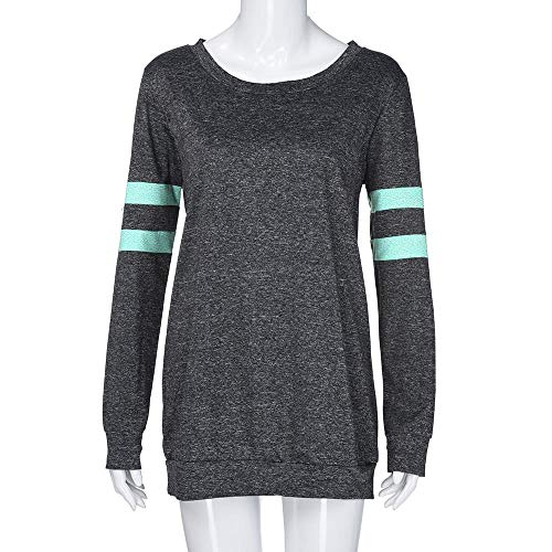 Spbamboo Womens Blouse Clearance Stripe Printed Long Sleeve Daily Casual Tops by Spbamboo (Image #6)