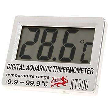 KT500 6,86 cm pantalla LCD termómetro Digital diseño de pecera para acuarios y Sensor inalámbrico -9, 9C - 99,9 máximo. Termómetro C: Amazon.es: Productos ...