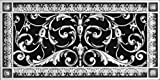 """Decorative Vent Cover, Grille, made of Urethane Resin in Louis XIV, French style fits over a 6"""" x 14"""", Total size, 8"""" by 16"""", for wall & ceiling installation only. (not for floors) (Nickel)"""
