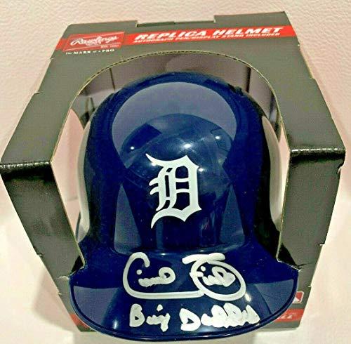 Autographed Mlb Mini Helmets - Cecil Fielder Signed Rawlings Official Tigers Mini Helmet Autheticed COA - JSA Certified - Autographed MLB Mini Helmets