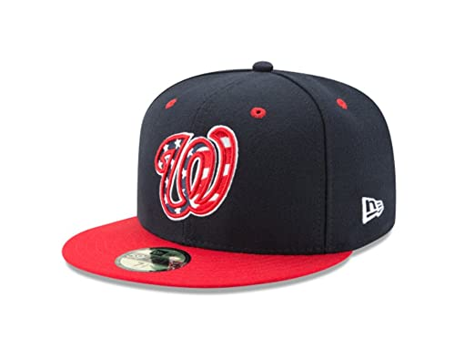 New Era 59Fifty Hat Washington Nationals MLB Authentic Navy Blue Fitted  Baseball Cap (8 1 83019c65df9