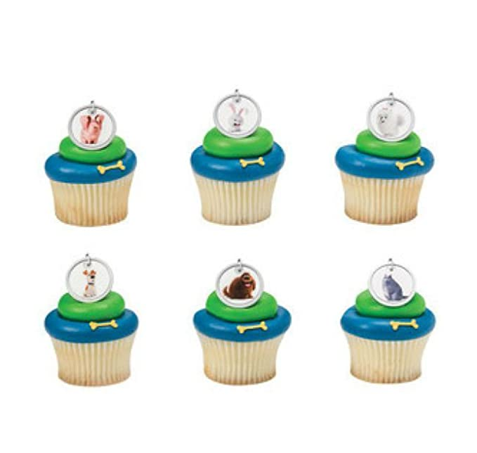 8 Secret Life of Pets Max Duke Snowball Cupcake Cake Topper Favor Birthday