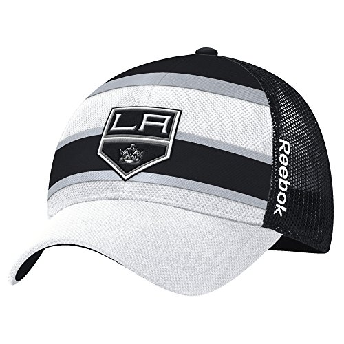 (NHL Los Angeles Kings Men's Face-Off Structured Flex Hat, One Size, White )