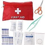Forgun 8-in-1 Waterproof Outdoor Survival Emergency First Aid Kit,Car Household Medical Box