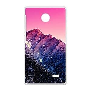 Pink Sky Mounatian White Phone Case for Nokia Lumia X Case