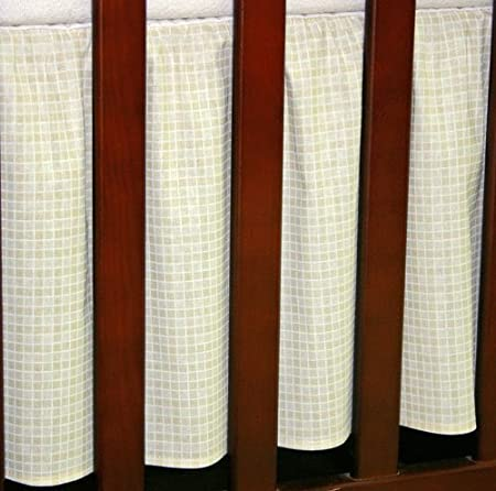 100% Cotton | Frilled Valance Sheet To fit Cot or Cot Bed (140 x 70cm, White) Babycomfort