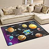 WellLee Area Rug,Solar System Planets Floor Rug Non-slip Doormat for Living Dining Dorm Room Bedroom Decor 31x20 Inch