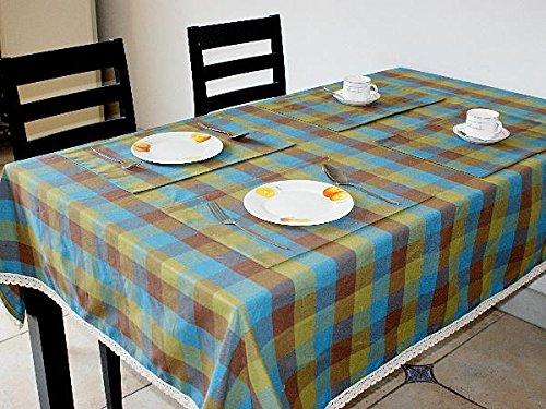 145145cm Tischdecke Gitter Baumwolltuch Stoff rechteckig Home Picknick Staubdicht Anti-Fouling Soft Premium Tisch