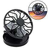 Mchoice Portable Clip On Solar Cell Fan Sun Power Energy Panel Cooling Summer Cooler