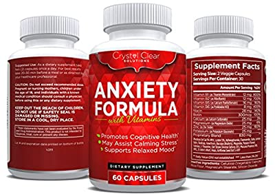Anxiety Relief and Stress Support Supplement, Best for Serotonin Increase (60 Caps)