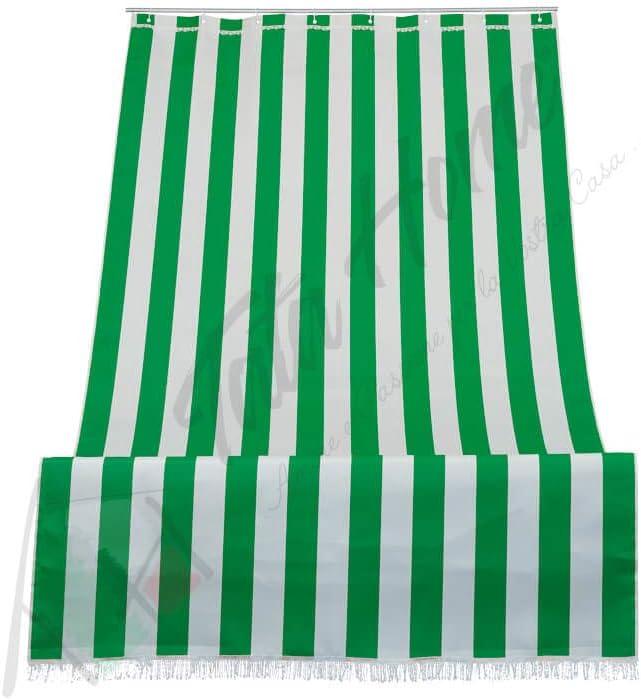 Tenda da Sole a Righe per Balcone Veranda o Terrazzo con Anelli e Ganci Tessuto Resistente da Esterno Misura cm 140x250 Colore Giallo