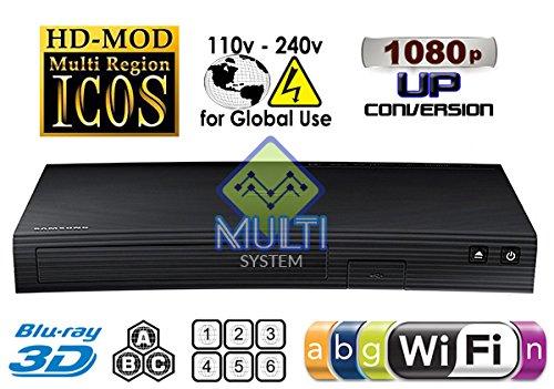 Samsung BD-J5900 Upgraded Wi-Fi Multi Region Zone Free Blu Ray DVD Player - PAL/NTSC 3D by Samsung