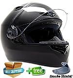 51bxKbM5LiL. SL160  FREE Smoke Shield Included! Snell M2010 DOT Approved Full Face Helmet Motorcycle ( Medium   Matte Black )