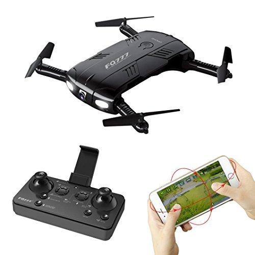 Eletty FQ777 FQ05 6-Axis Gyro 2.0MP Wifi Fpv Drone Camera Selfie Foldable Quadcopter (black) by Eletty