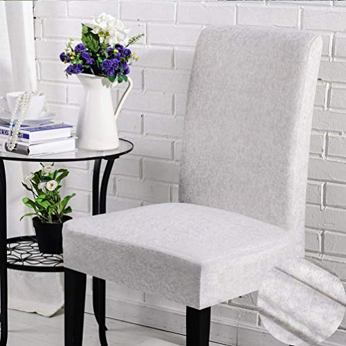 GBTRICON Modern Spandex Dining Room Chair Covers Removable Washable Anti-Dirty Chair Protector Slipcovers for Wedding Banquet