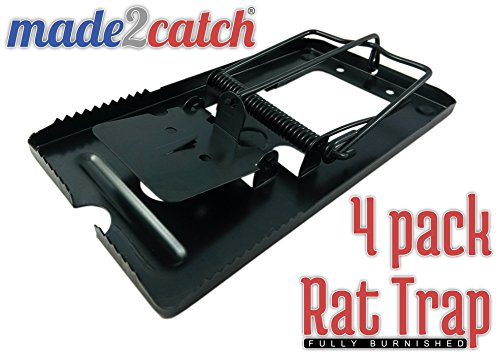 made2catch Classic Metal Rat Traps Fully Burnished - 4 tr...