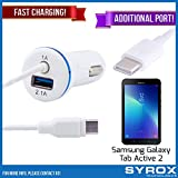 Syrox 10-Pack Type-C Car Charger & Port, Reversible 4 ft Fast Charging for Samsung Galaxy Tab Active 2, Samsung Galaxy Note 8, S8 Plus, LG V30, V20, G6, G5, Google Pixel, 6P, Nintendo Switch and All