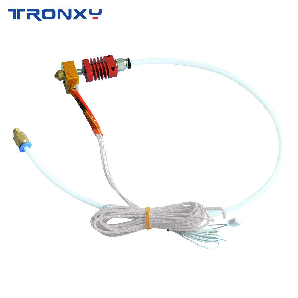 TRONXY Original Extruder Assembled MK8 Hotend Kit for 3D Printer with Aluminum Heating Block, 1.75mm, 0.4mm Nozzle,Bowden Extruder kit