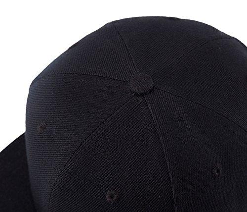Anillos Puro Beisbol Wuke de Negro Metal con con de Plana Mujer Gorra Snapback Visera Hombre qSAU4