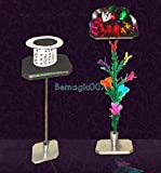 Table To Feather Flower And Mylar Flower - Stage Magic Tricks