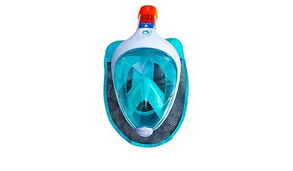 Original Tribord nueva subea EASYBREATH Snorkeling máscara buceo Turquise - Luz Azul Talla S-M (para mujer, niños, adolescentes) M-L (adultos): Amazon.es: ...